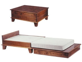 Bunk bed woodworking plans table garan wood desk for Fold out coffee table