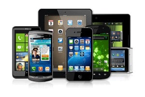 smartphones and tablets