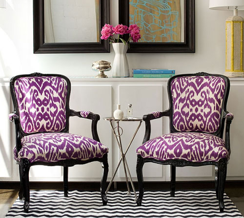 Ikat fabrics for the home