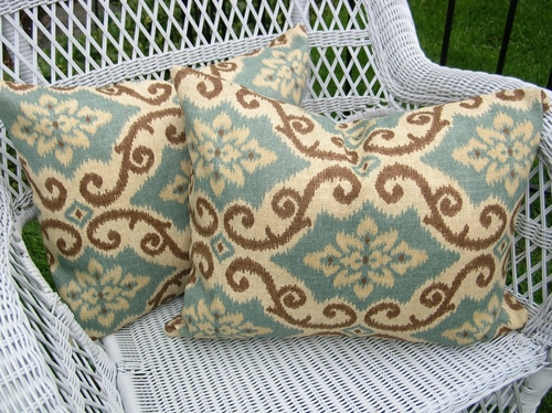 Outdoor ikat fabric
